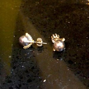 Juicy couture Black pearl earrings